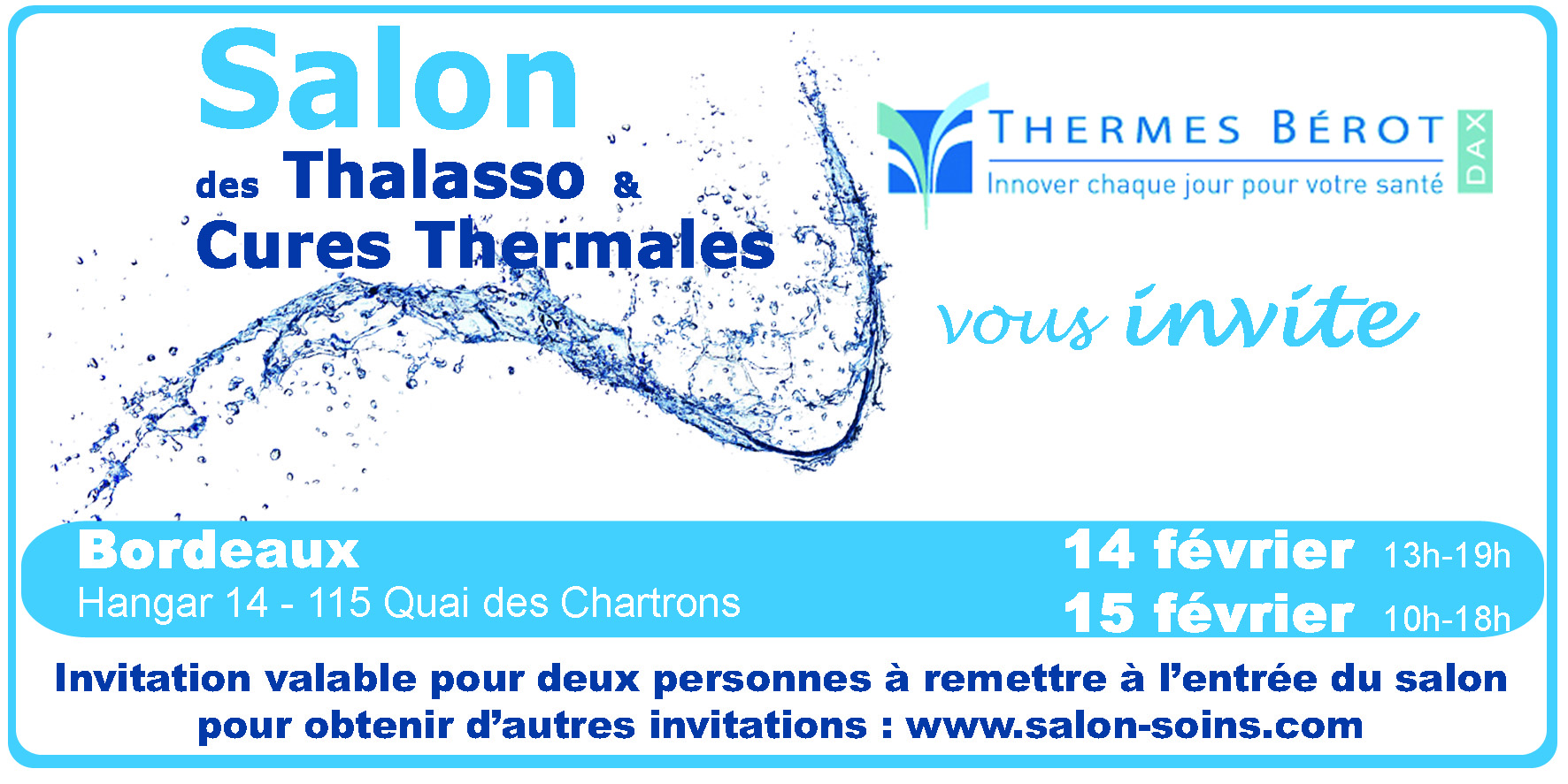Salon Thalasso et Cures thermales de Bordeaux en 2019